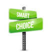 smart choice sign illustration design