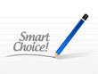 smart choice message illustration design