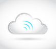 white cloud computing wifi illustration design
