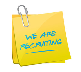 we are recruiting memo message illustration