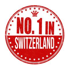 Number one in Switzerland stamp