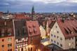 Nuremberg, Germany Dusk Skyline