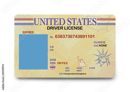 Blank Driver License - 69399174