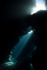 Underwater Cave and Light