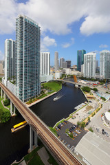Aerial image Brickell and Miami River