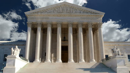 United States Supreme Court with Time Lapse Zoom