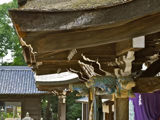 八栗寺 聖天堂 茅葺屋根とガネーシャ