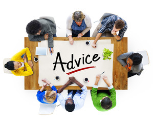 Group of People Discussing About Advice
