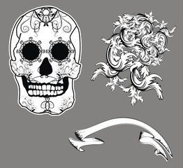 mexican skull floriture