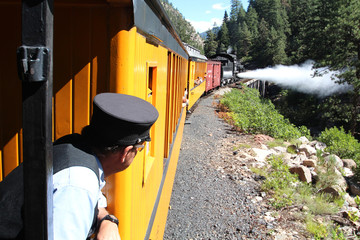Vintage steam train / Durango (Colorado)