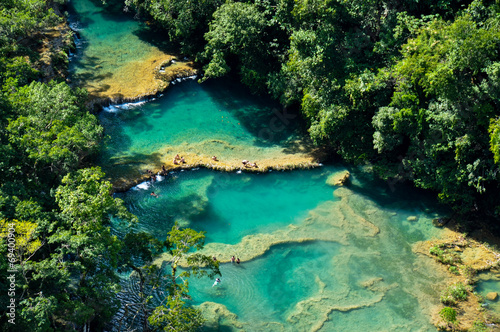 Fotobehang Centraal-Amerika Landen Semuc Champey natural swimming pools, Guatemala