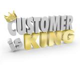 Customer is King 3d Words Crown Top Priority Service