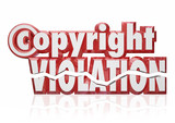 Copyright Violation Legal Rights Infringement Piracy Theft poster