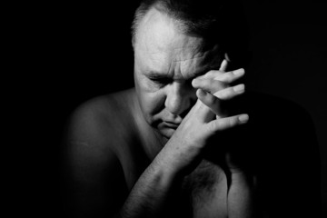 Sorrow senior man