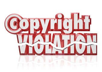 Copyright Violation Legal Rights Infringement Piracy Theft