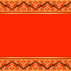 Red pattern in oriental style.