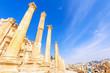 Columns of Gerasa in the ancient Jordanian city of Jerash