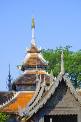 ancient roof top in Chiangmai