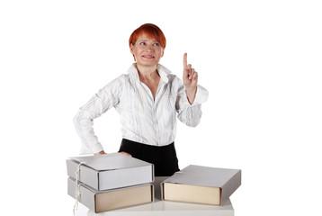 woman has an idea for the office