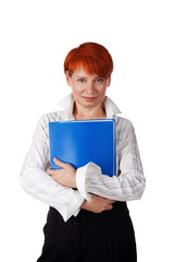 woman holding office documents