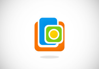 square social media abstract vector logo