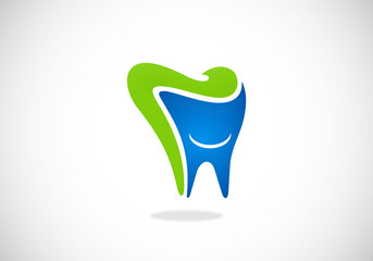 teeth dentist abstract vector logo
