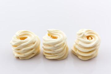 Ancient Thai sweet dessert on white background.