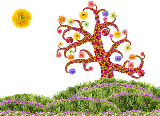 Easter Flowers Tree concept