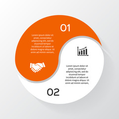 Vector circle business infographic, diagram, presentation