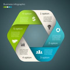 Vector circle business infographic, diagram, presentation