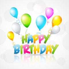 illustration of  happy birthday background