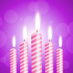 illustration of shiny candles