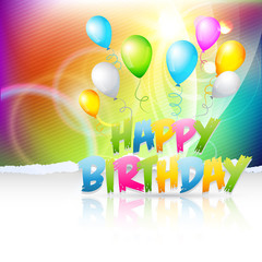 creative background of birthday