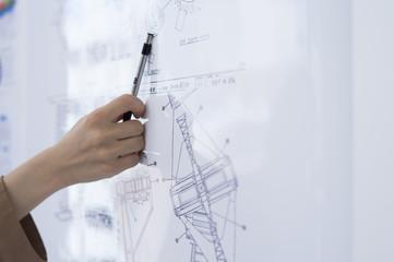 Women to explain the blueprint
