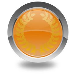 bouton excellence couronne de laurier
