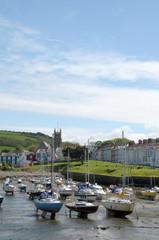 Harbour at Aberaeron on Cardigan coast, Wales