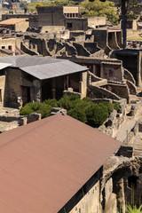 Blick auf Ruinen von Herculaneum - Casa dell´Albergo