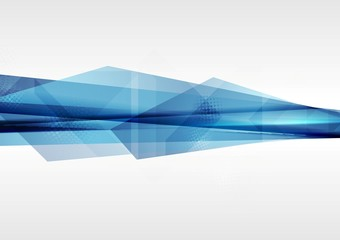 Technology geometry abstract blue background
