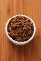 Cocoa powder in a bowl