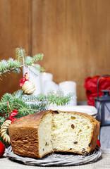 Festive bread on christmas table