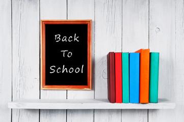 Back to school. Multi-coloured books.
