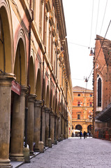 Big part of Bologna downtown is full of arches