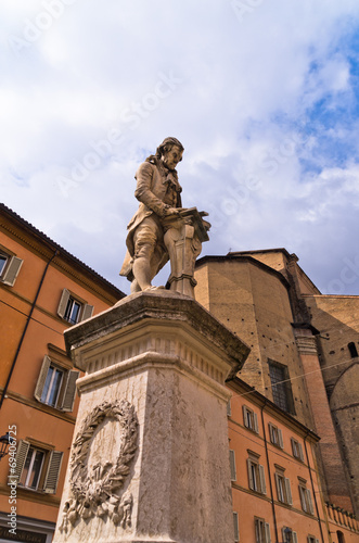 Statue of Luigi Galvani, famous italian physicist at Bologna Poster