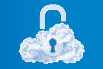 Data protection, Cloud computing security concept