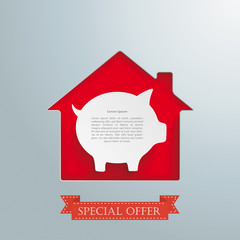 House Hole Silver Background Piggy Bank