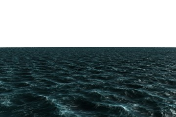 Digitally generated choppy Blue ocean