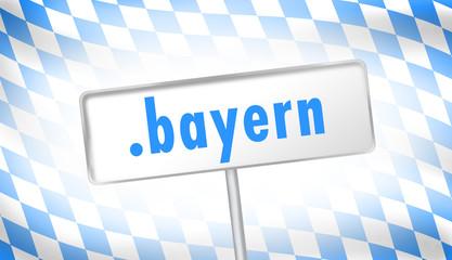 Bayern Flagge mit .bayern-Domain