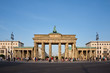 canvas print picture - Brandenburg gate, Berlin, Germany