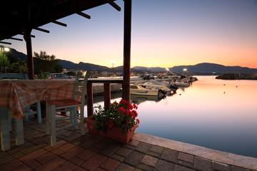 Harbour in Makri Gialos village in southern Crete.