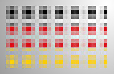 Pixel-styled Germany National Flag